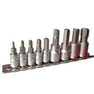 Klucze trzpieniowe Imbus na szynie 9 sztuk 2 - 12mm