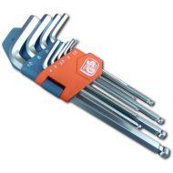 Klucze imbusowe z kulką 9szt. 1,5-10mm
